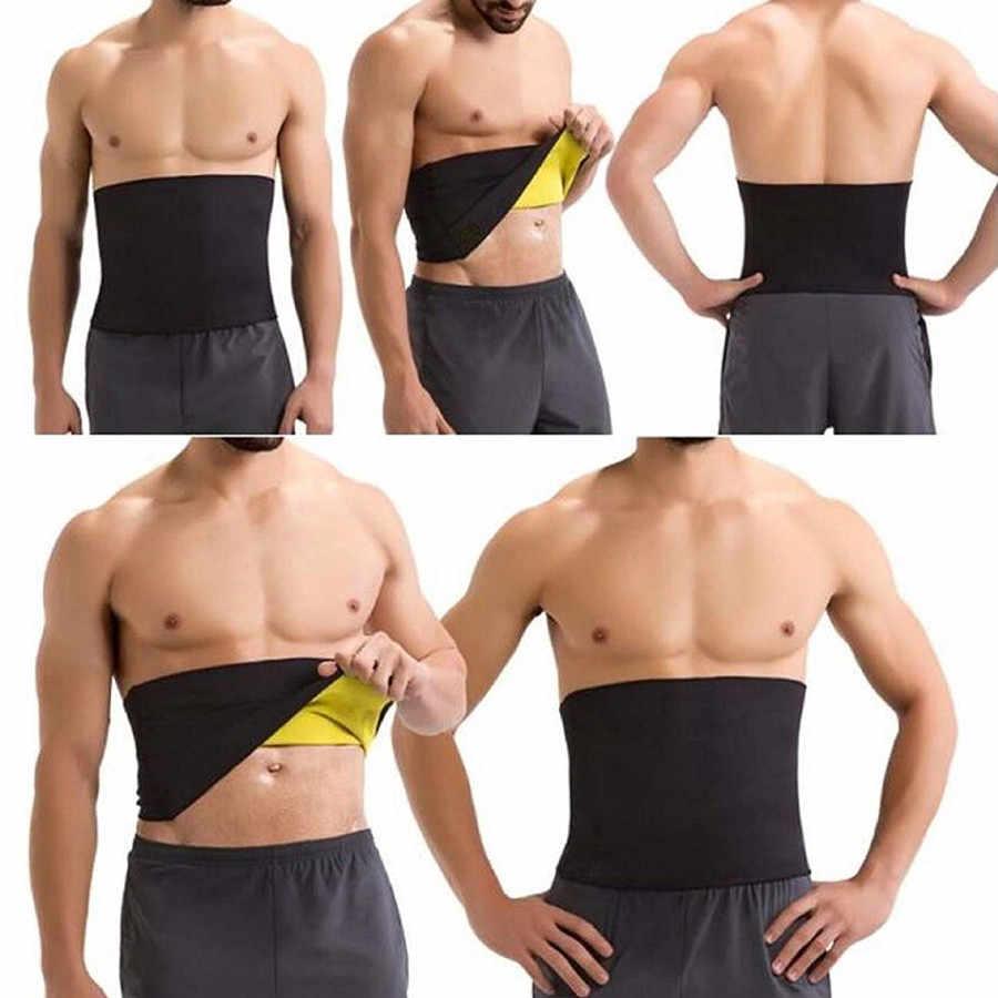 Мужские горячие формочек пояс триммер для похудения Ремни Body Shaper сжатия регулируется неопрен плоский живот моделирования ремень Корсеты