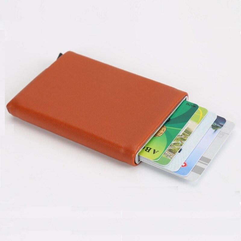 New Mini PU Leather Business Aluminium RFID Credit Card Holders for ...