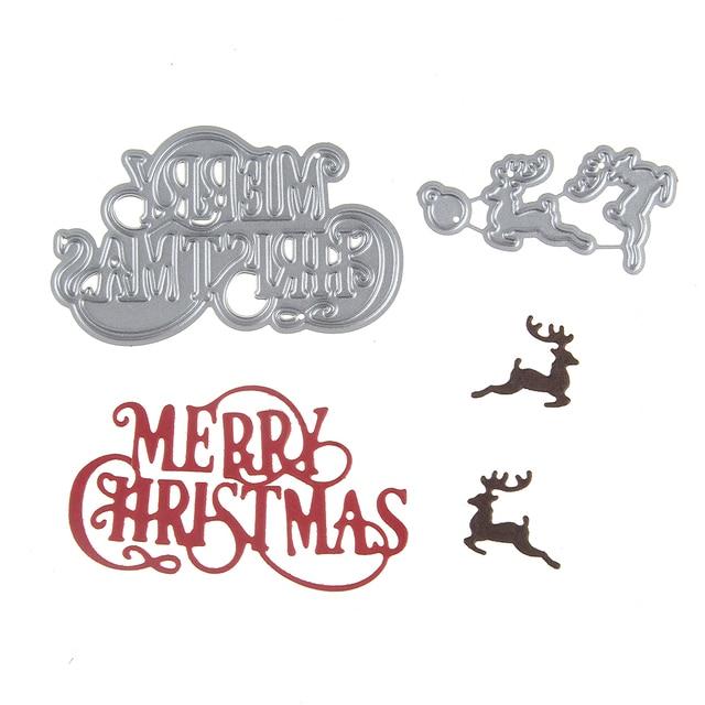 aea630fd657e US $1.02 36% OFF 3D Merry Christmas Words Reindeer Metal Cutting Dies DIY  Scrapbooking Carbon Steel Craft Dies Photo Invitation Cards Decor-in  Cutting ...