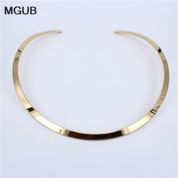3-color collar selection smooth popular open collar 316L stainless steel necklace women jewelry HL306