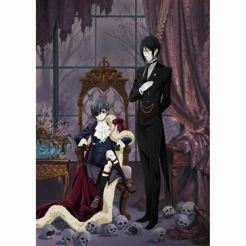 Kuroshitsuji Black Butler Anime Manga Wall Poster Scroll Home Decor Poster Cosplay