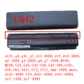 5200MAH  6cells battery notebook laptop batteries FOR HP Compaq MU06 MU09 CQ42 CQ32 G62 G72 G42 593553-001 DM4 593554-001