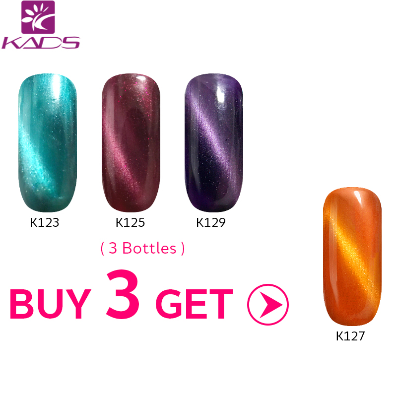 KADS Buy 3 Get 1 Gift 9.5ml Functional 3D Cat Eye Gel Nail Polish Magnetic UV/LED Nail Polish Semi Permanent Nail Gel varnish recette merveilleuse ultra eye contour gel by stendhal for women 0 5 oz gel