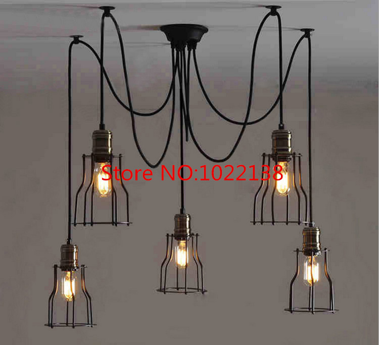 Aliexpress.com : Buy Black Spider Chandelier Lamp with Iron Cover ...