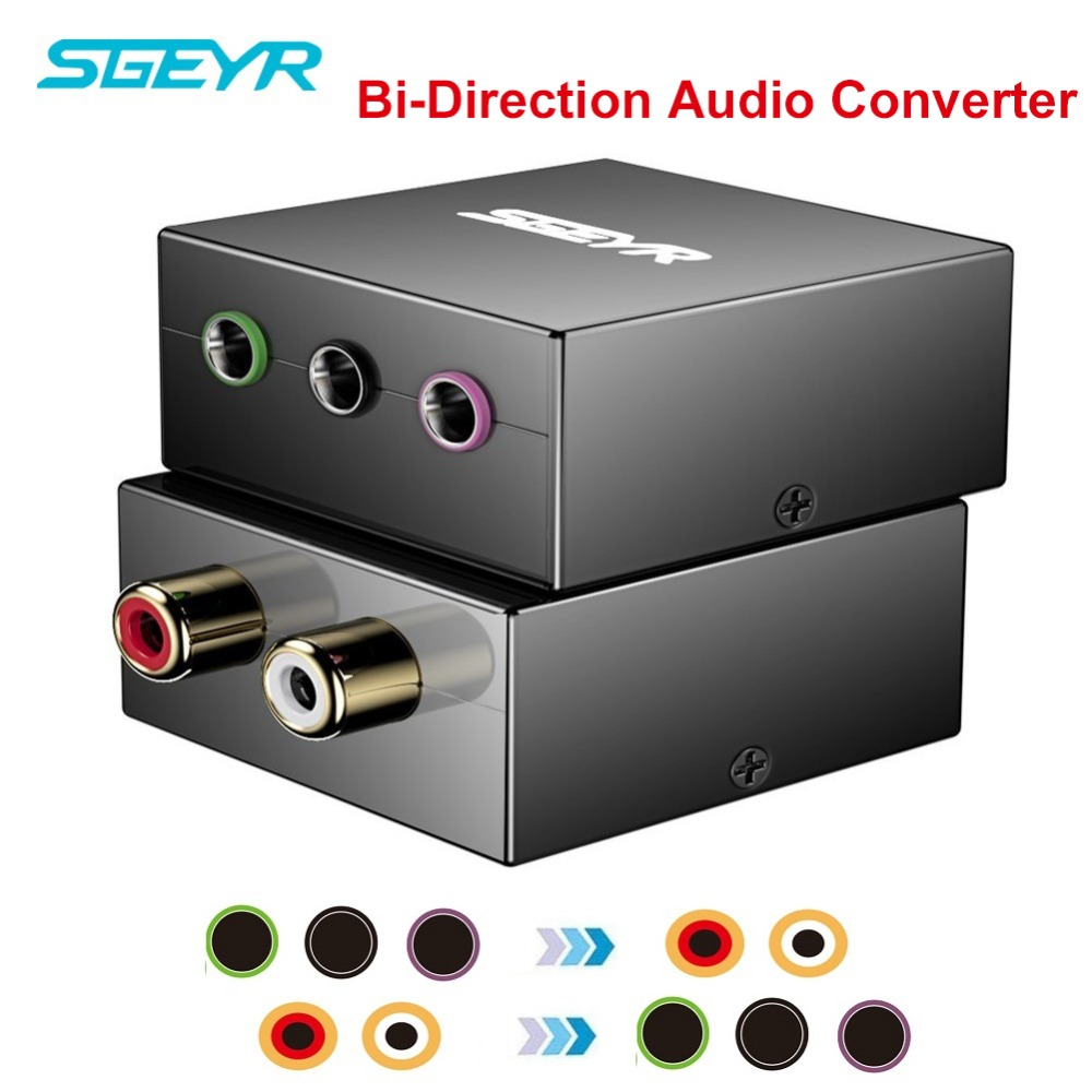 5,1 аудио Двунаправленный конвертер SGEYR 5,1 игровая консоль Адаптер преобразует RCA вилки в один 1/8 для 5,1 мультимедийных динамиков
