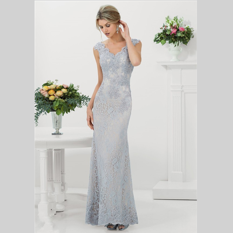 2015 New Design Sheath Lace Wedding Dresses With V Neck