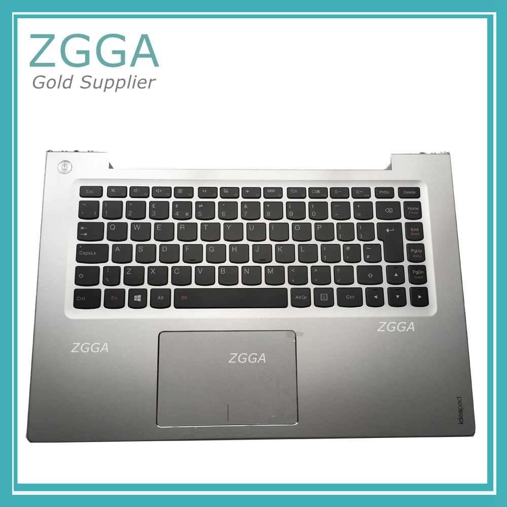 где купить Genuine NEW for Lenovo IdeaPad U430 U430P Palmrest UK Keyboard Upper Case Cover W/ Touchpad Big Enter Key Backlit Silver дешево