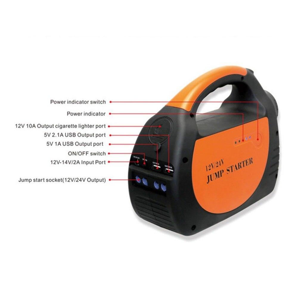 Многофункциональный 30000 мАч 12 24 В USB Портативный мини автомобиль скачок стартер Батарея Зарядное устройство Мощность банк Быстрая зарядка д