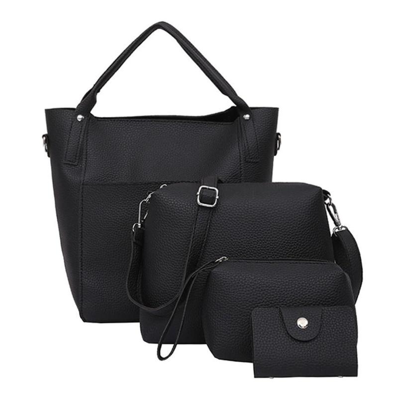Schulter tasche Messenger tasche frauen der Frauen Vier Set Handtasche Schulter Taschen Vier Stücke Tote Taschen Crossbody Brieftasche A0807 #30