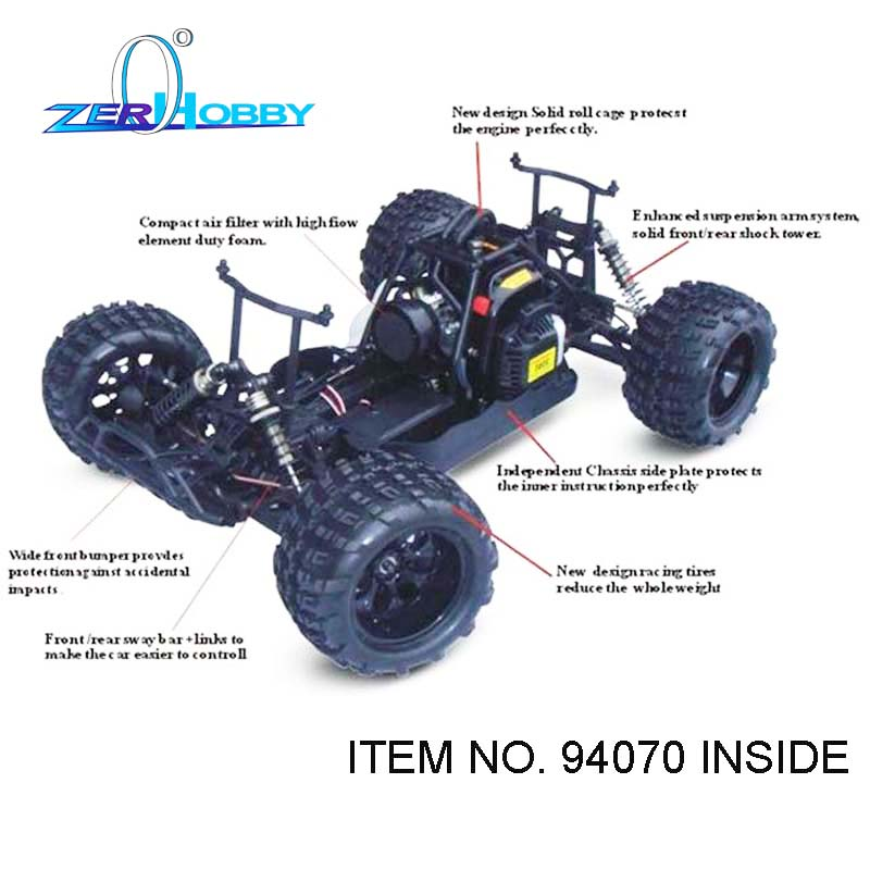 RC CAR TOYS HSP FACLE NT 5 GAS MONSTER TRUCK 1/5 SCALE 4X4 OFF REMOTE - Lodra me telekomandë - Foto 4