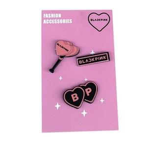 3 шт., изящный миниатюрный значок GOT7 EXO, черный и розовый цвета, Заколка-булавка, подарочные украшения для девочек, женская блузка-заколка