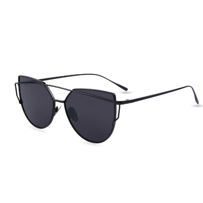 Venta caliente espejo Flat lense mujer ojo de gato Gafas de sol ...