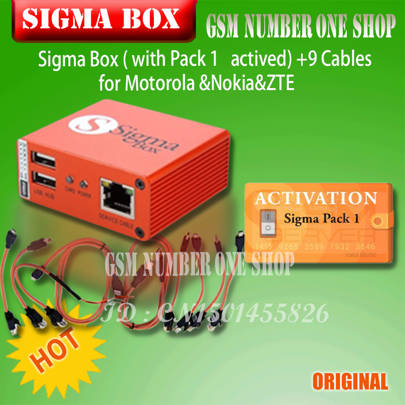 Image 4 - 2019 original Newest Sigma Box with Cable Set + Sigma Pack 1, 2, 3 Activations  for MTK based Motorola Alcatel Huawei ZTE Lenovo-in Phone Adapters & Converters from Cellphones & Telecommunications