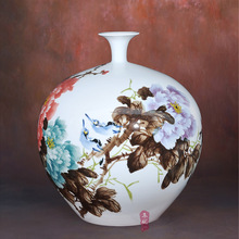 ceramics Huang Xiaoling flower vase Home Furnishing rich and safe modern minimalist living room decoration technology