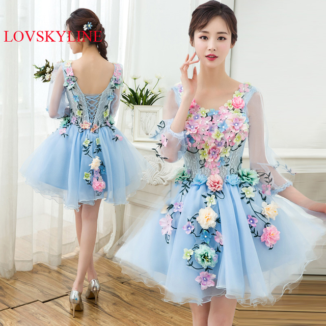Prom dress design 2017 female short formal dress birthday long ...