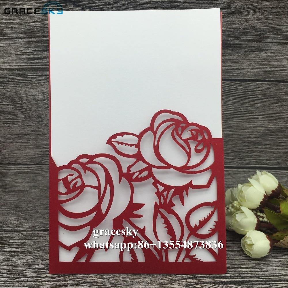 Free Shipping 50pcs New Flowers Design Pocket Stye Wedding