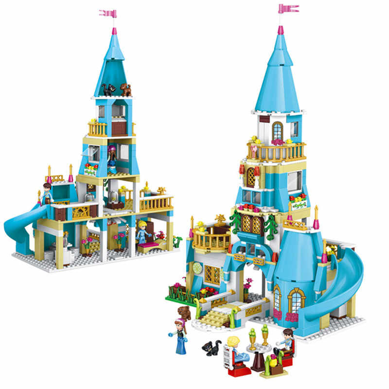 Girl Friends Princess Anna and The Princess Castle Legoings Model Building Kits Blocks Bricks Set Girl Toys Gift for Kids