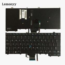 Nowy dla DELL Latitude E7440 klawiatura laptopa UI wskaźnik myszy podświetlany 00K1C8 V141025AR1 w Zamienne klawiatury od Komputer i biuro na