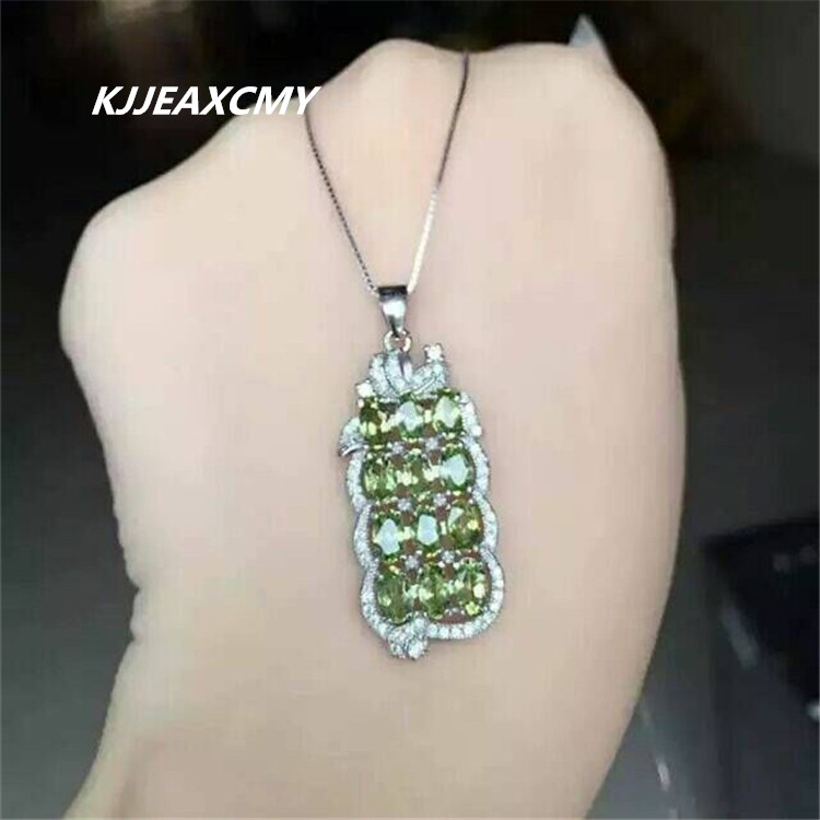 KJJEAXCMY boutique jewelry,Natural female Peridot Necklace inlaid jewelry wholesale S925 SilverKJJEAXCMY boutique jewelry,Natural female Peridot Necklace inlaid jewelry wholesale S925 Silver