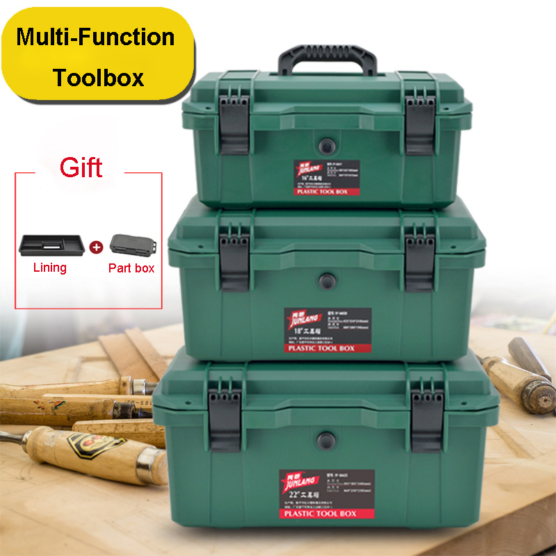 Multi-Function Toolbox Home Vehicle Maintenance Hand-Held Art Hardware Storage Box Repair Tool Box Case