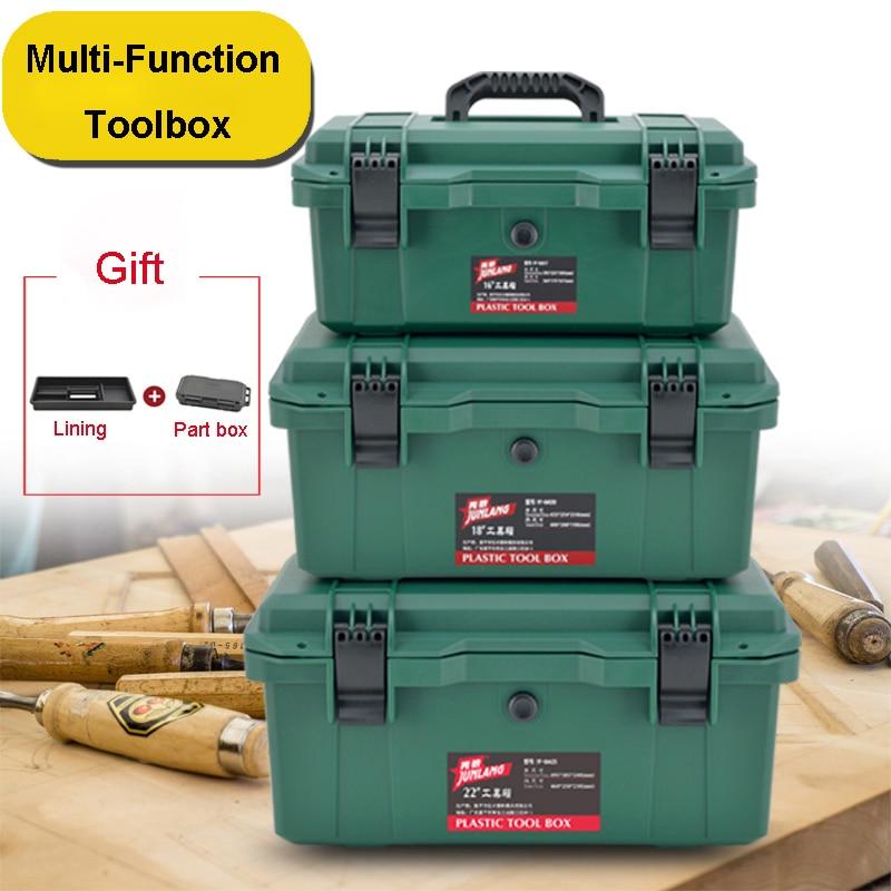 Multi-Function Toolbox Home Vehicle Maintenance Hand-Held Art Hardware Storage Box Repair Tool Box Case