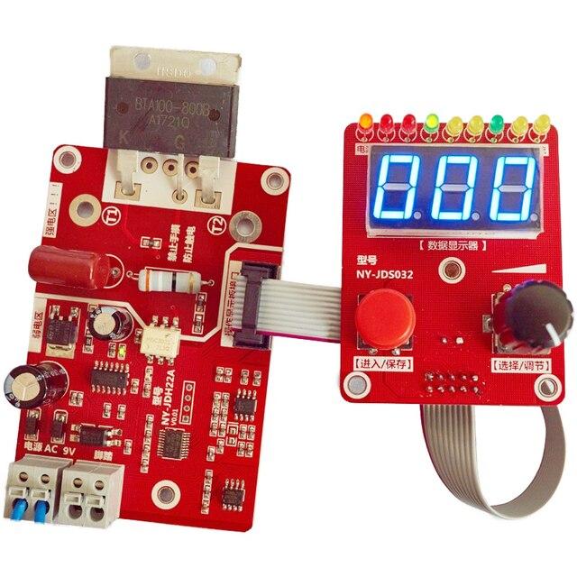 Codificador de doble pulsación NY D02 100A/40A, máquina de soldadura por puntos, controlador de corriente de tiempo, placa de Panel de Control, pantalla Digital ajustable