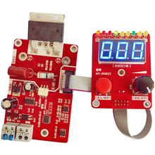 NY D02 100A/40A Double Pulse Encoder Spot Welding Machine Time Current Controller Control Panel Board Adjustable Digital Display