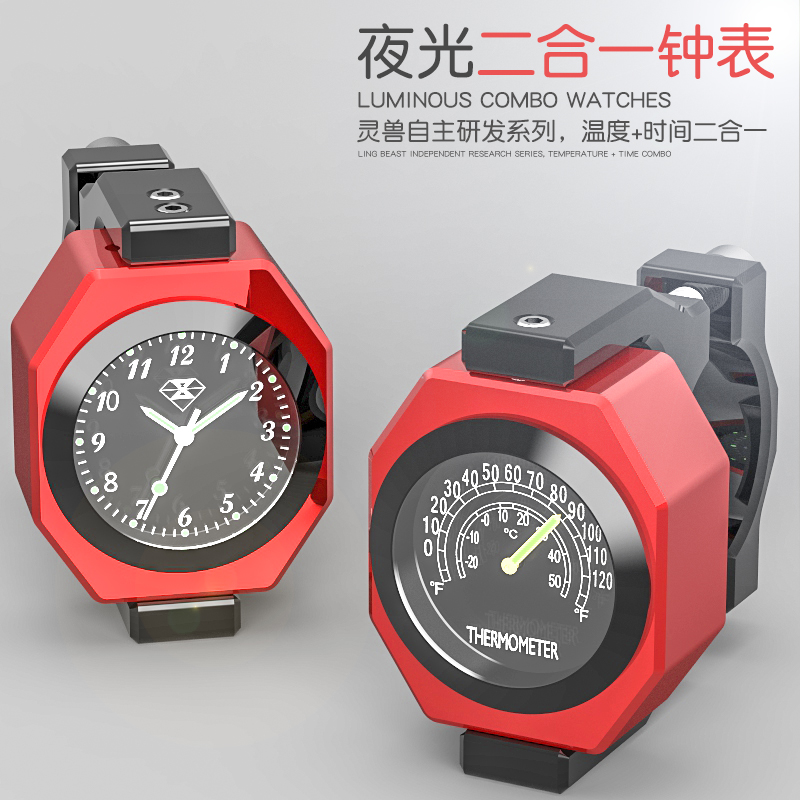 Universal Motorcycle Watch And Thermometer 2 In 1 Luminous Waterproof For Harley Kawasaki Yamaha Ktm Dirt Bike Motorbike Tourism Мотоцикл