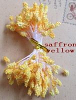 Wholesale Free Shipping Saffron Yellow Color Stamens 3 Mm Foam Flowers Flower Stamens Cake Decoration Of