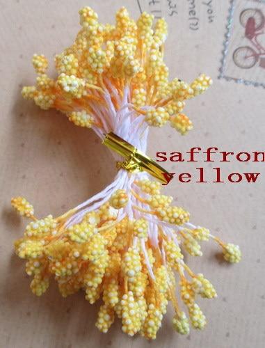 Wholesale free shipping saffron yellow color stamens 3 mm foam flowers flower stamens cake decoration of DIY 800 PCS 001004008