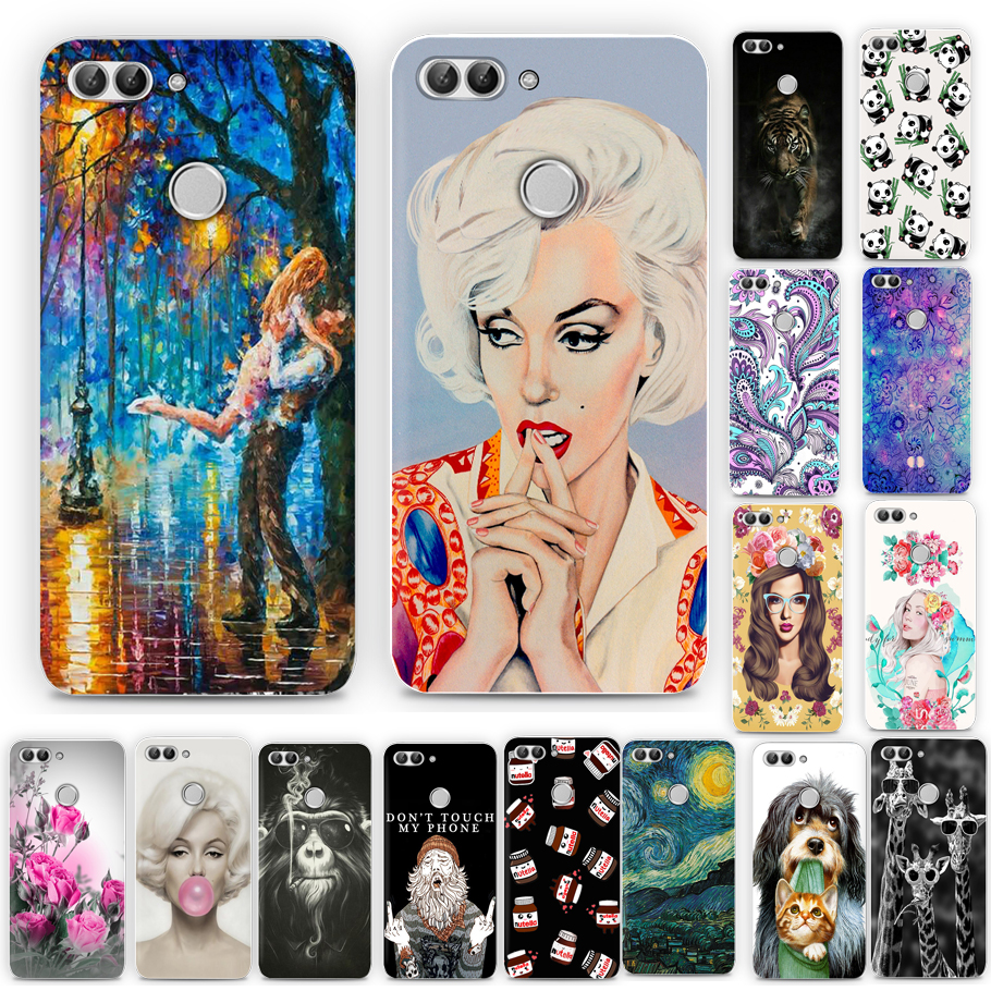 Galleria fotografica Protected Soft Case For Huawei Ascend P Smart Case Cover Silicone Soft For Huawei Psmart Enjoy 7S Phone Case Cover For P Smart