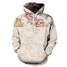 Flowers Men/Women 3d Sweatshirts With Hat Print Floral Hooded Tops Autumn Winter
