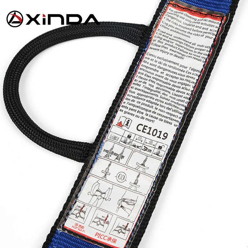 XINDA المهنية الرياضة في الهواء الطلق تسخير تسلق الصخور نصف الجسم تسخير الخصر دعم سلامة مقعد حزام حامي المعدات