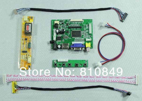 HDMI+VGA+2AV controller board work for 14.1inch 15inch XGA 1024*768 ( without LCD screen )