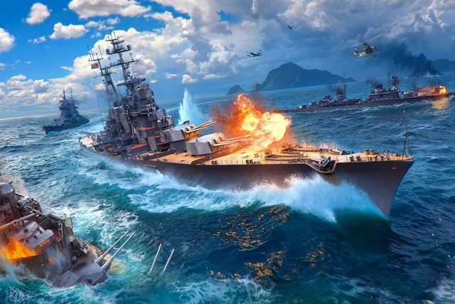 world of warships game fan art KC047 living room bedroom home wall modern art decor wood frame clothes sill fabric posters