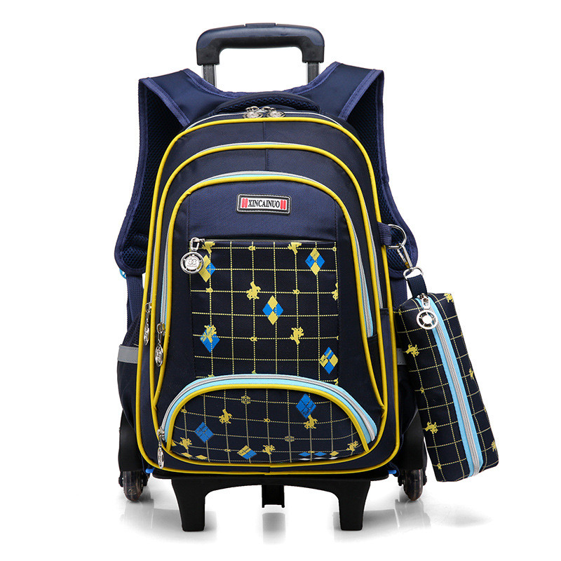 Kids Rolling Backpack Boys Wheeled Book Bag Children Trolley School Bag Travel Backpack for Girls satchel with 3 wheels mochilas
