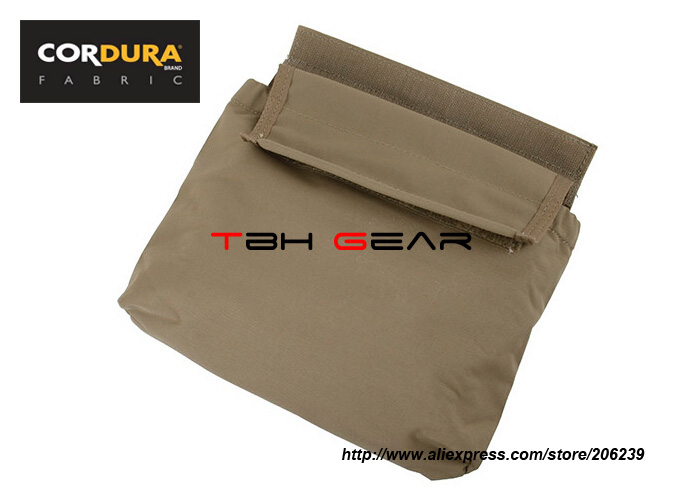 TMC Velco Plate Carrier Add On Roll Up Dump Pouch Coyote Brown+Free shipping(SKU12050819)