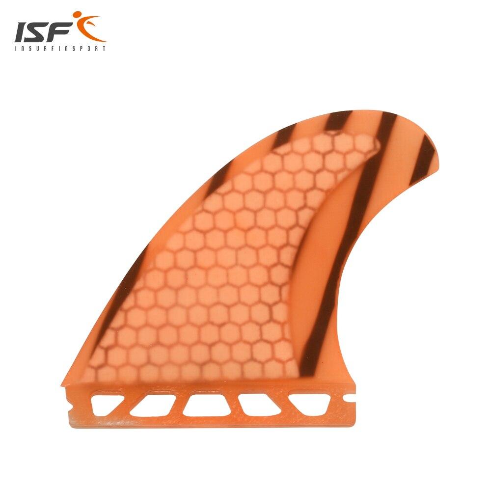 ISF nouveau arrivé en nid d'abeille en fiber de verre orange avenir surf ailettes quad ensemble surf quihas avenir SQ quad 4 pcs/ensemble pour sup planche de surf