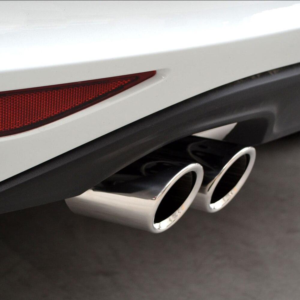 Автомобильный Стайлинг из нержавеющей стали хромированный глушитель наконечник трубы автомобиля Стайлинг авто аксессуары для Volkswagen Golf 6 Golf 7 MK7 1,4 T