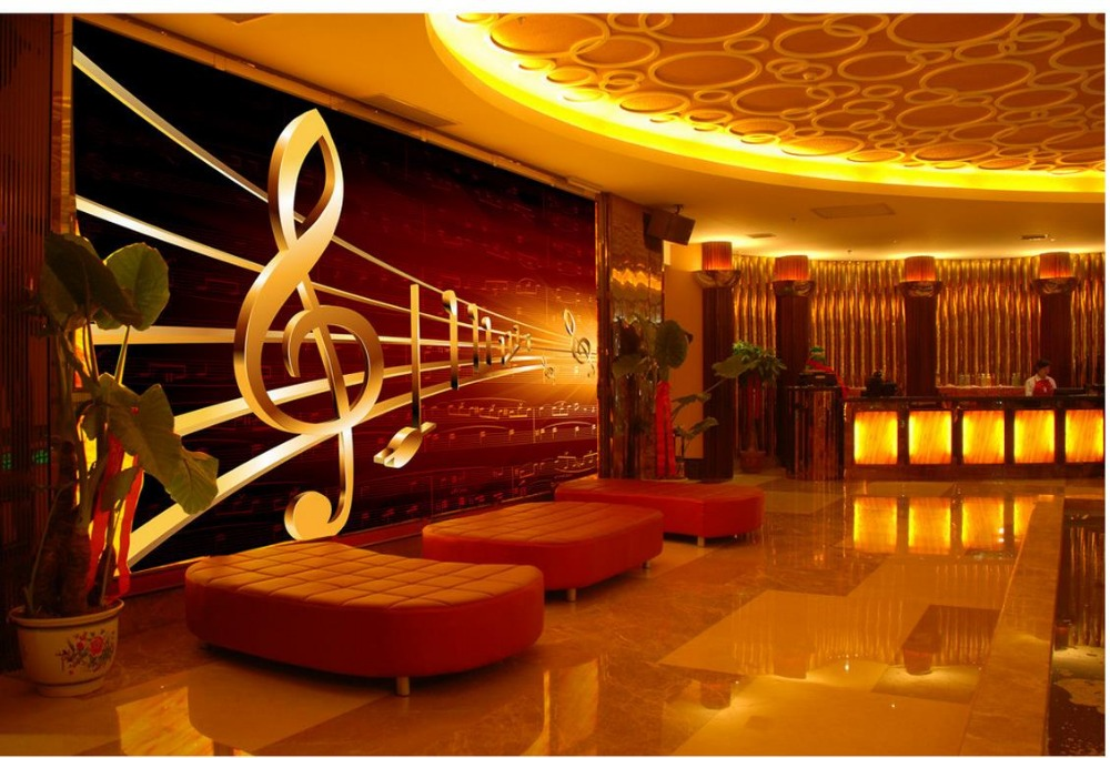 3d Wallpaper TV Background The Living Room Sofa Backdrop Mural Music Wall Murals