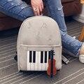 2017 de Piano Musical Música Violín Impresión Mochila Informal Mochilas Para Adolescentes Niñas Mochila de Viaje de la Escuela Los Estudiantes Mochilas