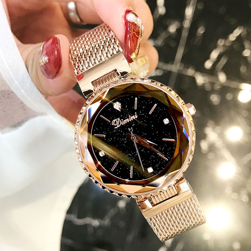 Saatler'ten Kadın Saatleri'de Yıldızlı Gökyüzü Kadın Izle Saat Lüks Marka 2018 Bayan kol saati Zegarek Damski Montre Femme Bayanlar Kadınlar İzle Relogio Feminino'da  Grup 1