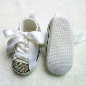 Image 5 - בלינג יילוד מותאם אישית עבור קונה בעבודת יד תינוקות הטבלה קשת מדהים גליטר נהדר sapatos sparkle תינוק ראשון הליכונים