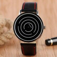 Спортивные наручные часы с крутым поворотным циферблатом, повседневные модные часы из искусственной кожи, Кварцевые женские простые мужские часы, подарок