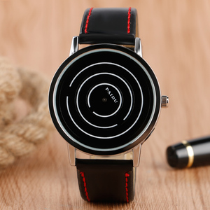 Sport Wrist Watch Cool Turntable Dial Casual Fashion Watches PU Leather Band Quartz Women Simple Men Relogio Gift