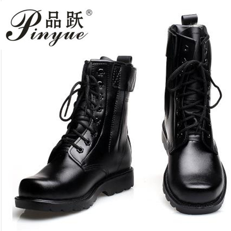 Fashion Army Genuine leather Boots Men Military Boots Tactical Combat Boots Waterproof Summer/Winter Desert Boots Size 36-45 fashion army boots men military boots tactical combat boots waterproof summer winter desert boots size 35 46 ids658