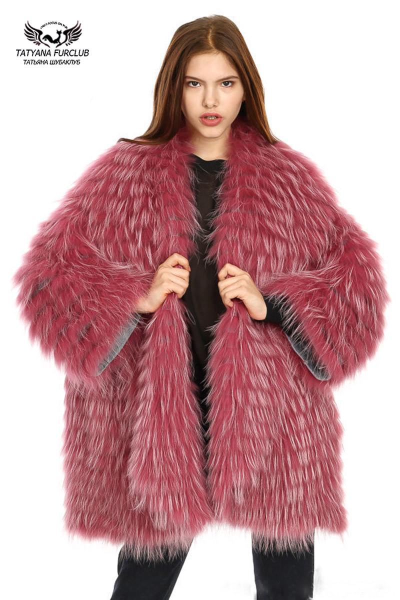 Татьяна Furclub Шуба енот собака меховой Топ Класс длинное пальто Для женщин верхняя одежда уличная где мой ум парка с натуральным мехом