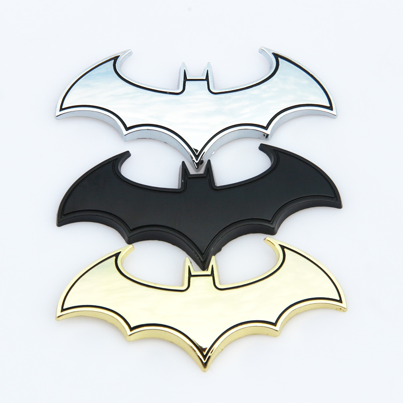 3D Metal Bats Car stickers metal car logo badge badge Last Batman logo stickers decals motorcycle Styling decals Car Styling 1pcs 3d simulation of car stickers car accessories styling moulding motorbike decals free shipping