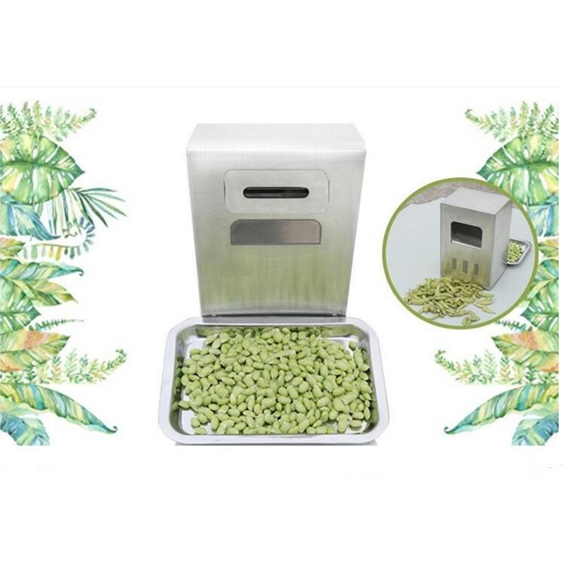 220V Full Automatic Electric Commercial Soybean Peeling Machine Wet Soybean Peeler Machine Fresh Bean Sheller EU/US/BS Plug green walnut peeling machine fresh walnut peeler green walnut peeler machine