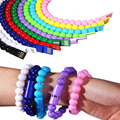 Fashion Micro USB 2.0 Cable Charging Sync Data Cable Wrist Bead Bracelet 2 In 1 For Samsung Galaxy HTC Android MP3 Birthday Gift